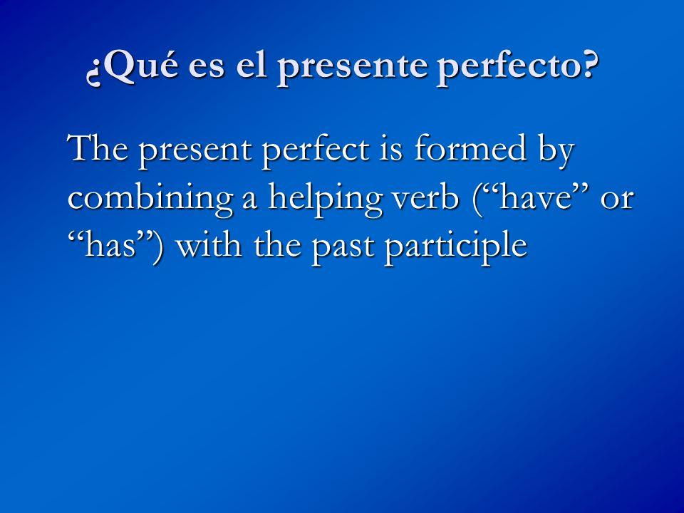 ¿Qué es el presente perfecto.