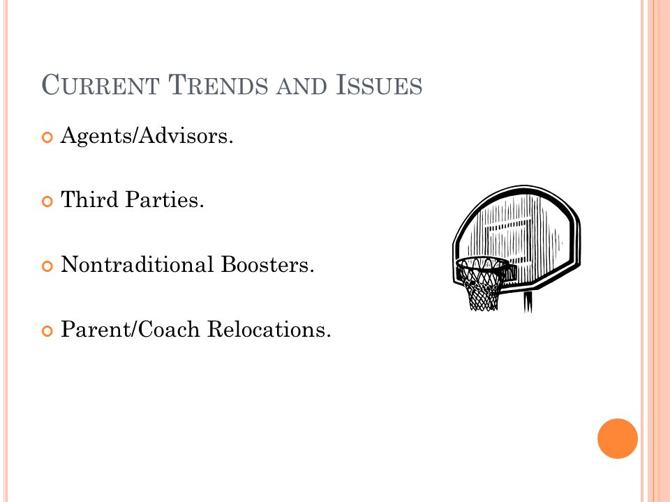 D IVISION I E NFORCEMENT : B ASKETBALL T RENDS AND I SSUES Questions?