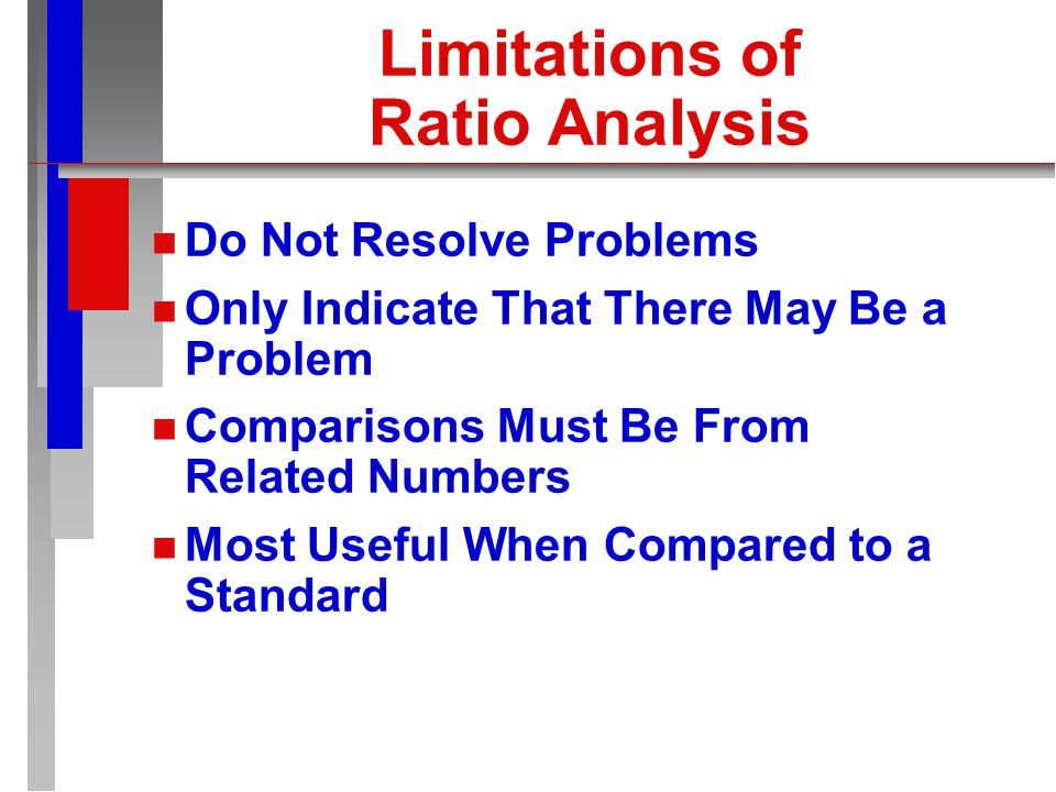 Ratio Analysis n n Express in a Number of Ways Percentage Per Unit Basis Turnover Coverage