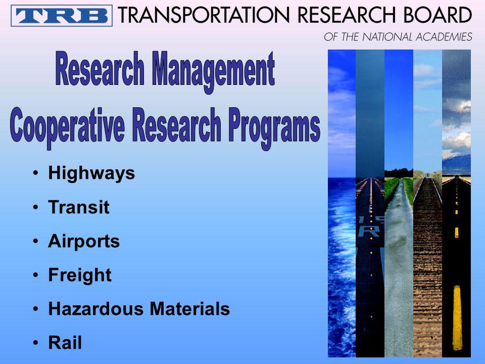 Highways Transit Airports Freight Hazardous Materials Rail