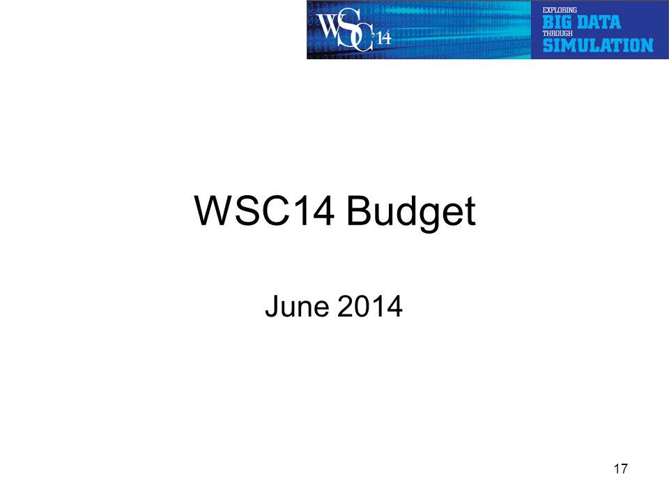 WSC14 Budget June 2014 17