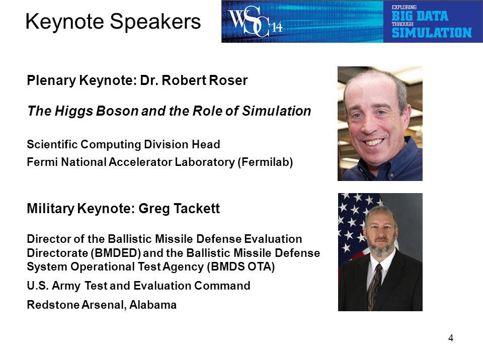 Keynote Speakers 4 Plenary Keynote: Dr.