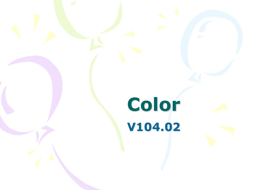 Color Color is a function of light and represents one portion of the electromagnetic spectrum.