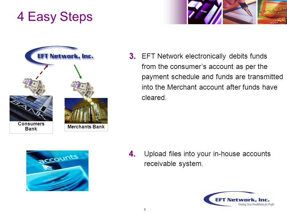 Benefits for, YOU  Electronic presentments are cleared before paper checks for faster payment processing  Access your files anywhere, anytime, anyplace  Reduce Bank transaction return fees  Receive faster advice on NSF returns in 3-5 days, versus 7, 10, or 14 days in paper form  Ability to resubmit returned NSF items immediately and return fees can be collected with proper authorization 17