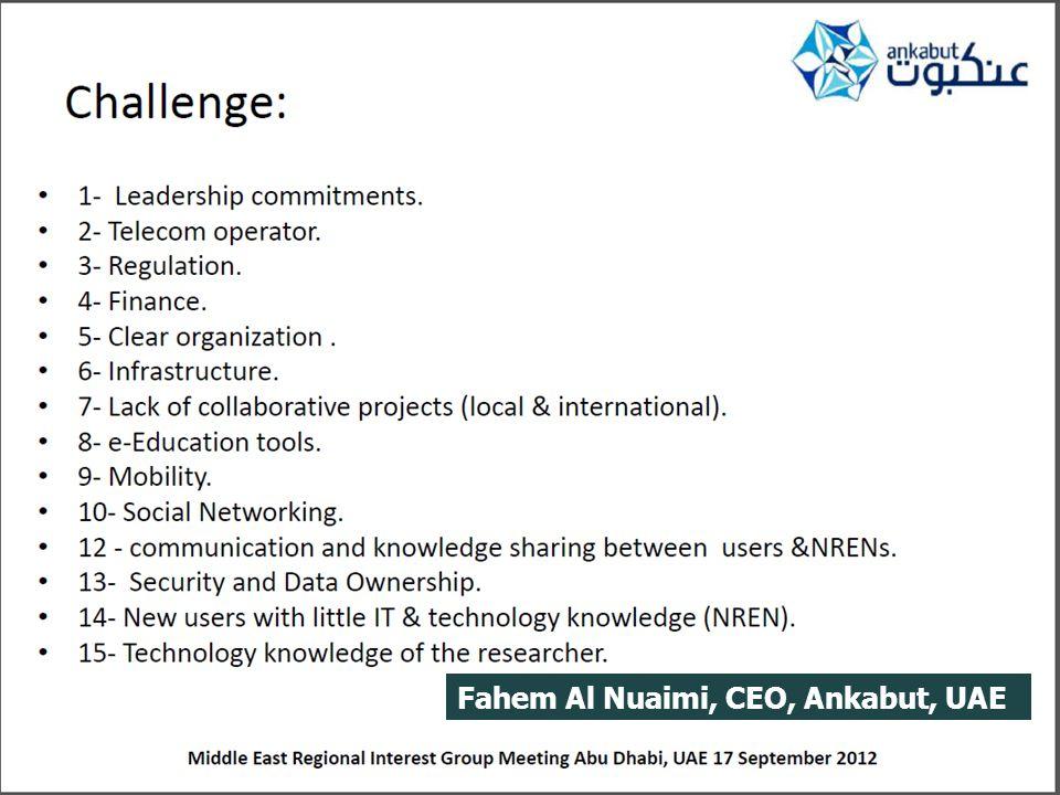 Fahem Al Nuaimi, CEO, Ankabut, UAE