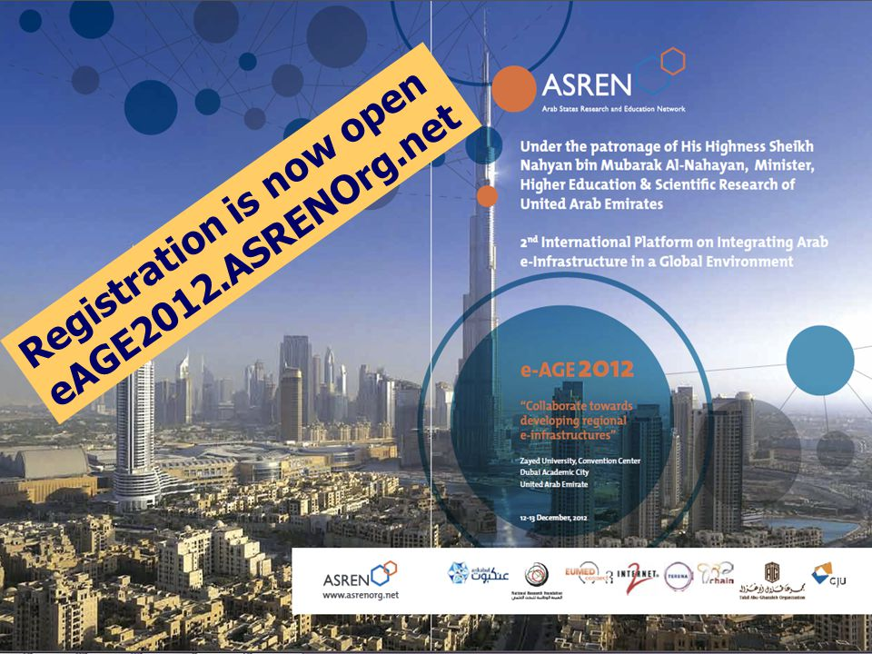 Registration is now open eAGE2012.ASRENOrg.net