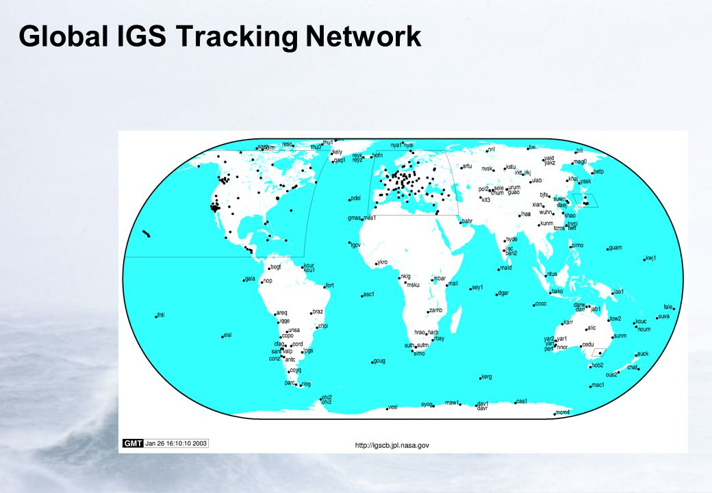 Global IGS Tracking Network