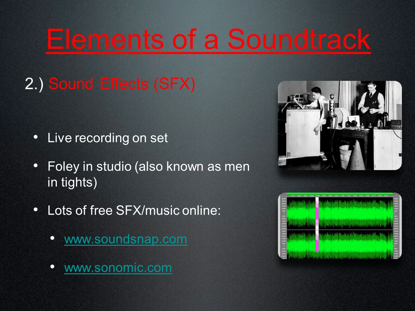 Live Recording – 30 secs. of room tone Why they say quiet on the set