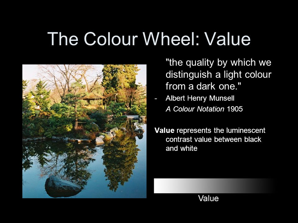 The Colour Wheel: Value