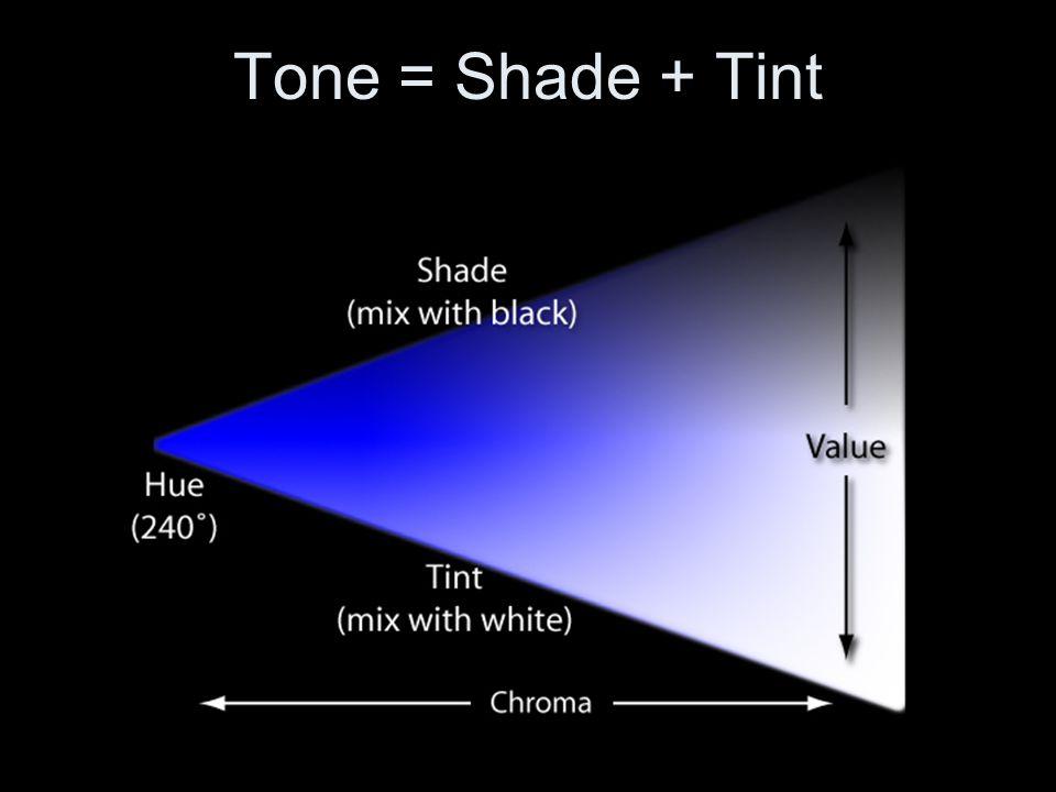 Tone = Shade + Tint