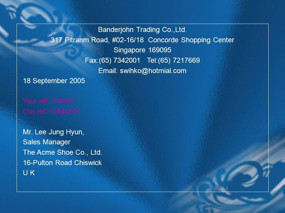 Banderjohn Trading Co.,Ltd.