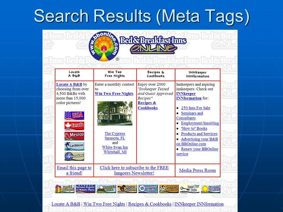 Search Results (Meta Tags)