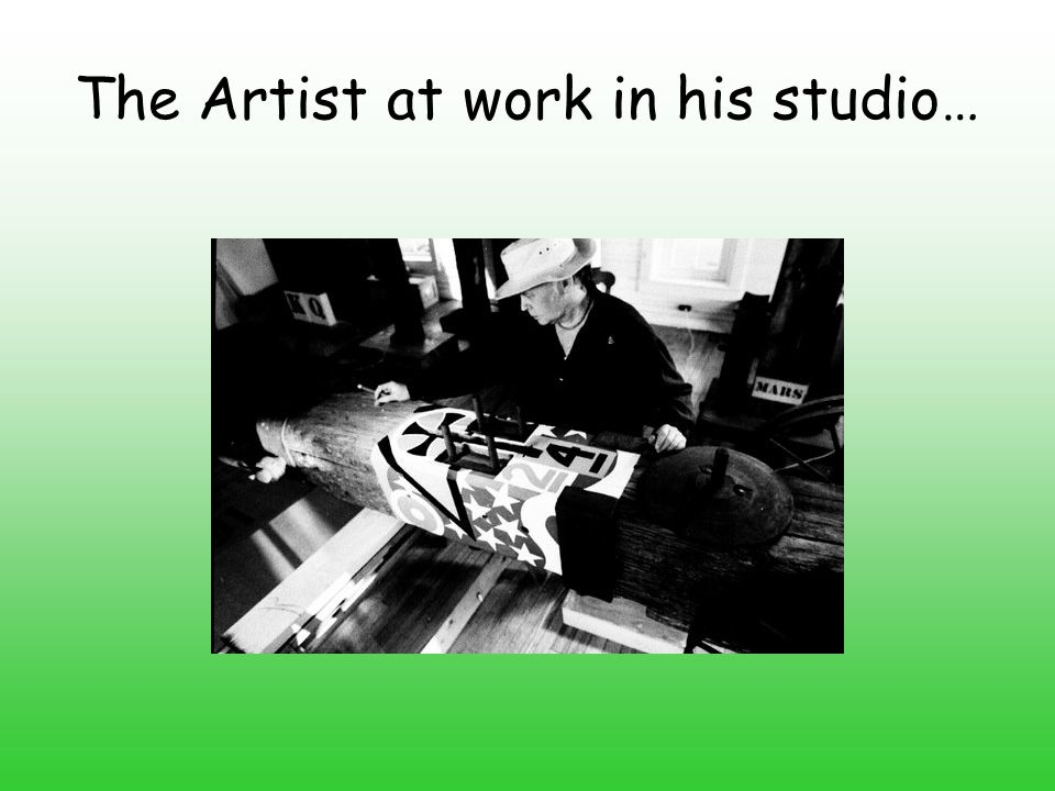 The Artist at work in his studio…