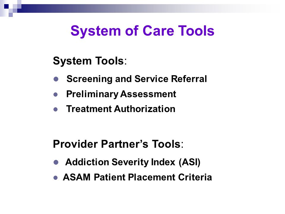 Alcohol and Drug Priority Clients For Publicly Funded Slots l Federal Priorities Pregnant HIV Injection drug users l Children's Protective Services Clients l Multi-County Service Users Criminal justice involved (pregnant and juvenile offenders) Public assistance recipients (CalWORKs and others)