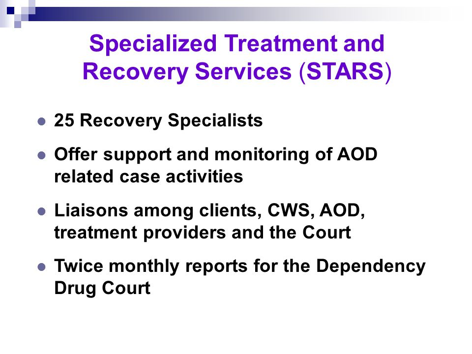 Specialized Treatment and Recovery Services Engaging Parents in Treatment, Recovery and Parenting