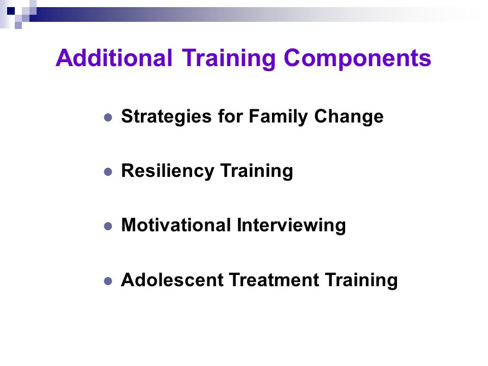 Training to Build Service Capacity l Level One Overview of chemical dependency Beginning to intermediate AOD information Introduction to assessment and treatment l Level Two Advanced AOD information Assessment and treatment skill building SASSI Certification training l Level Three Group treatment service skills Special treatment topics