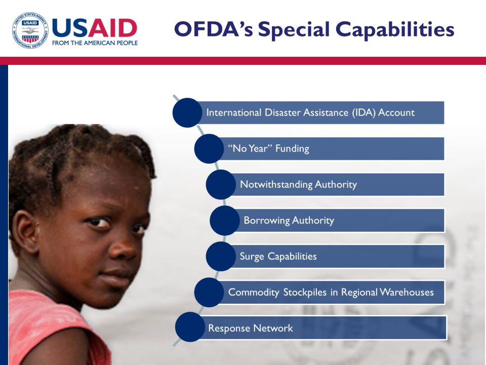 OFDA's Special Capabilities