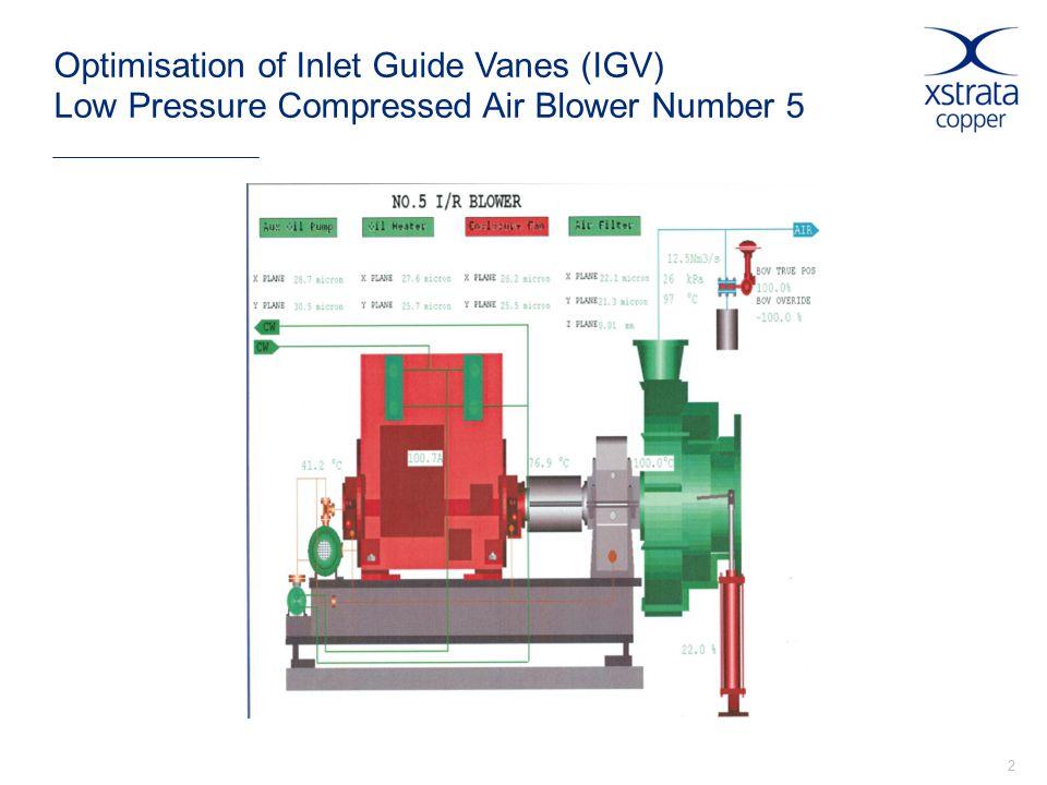 2 Optimisation of Inlet Guide Vanes (IGV) Low Pressure Compressed Air Blower Number 5