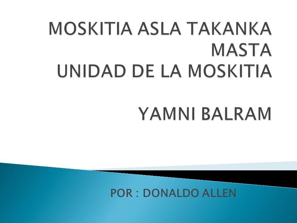 POR : DONALDO ALLEN
