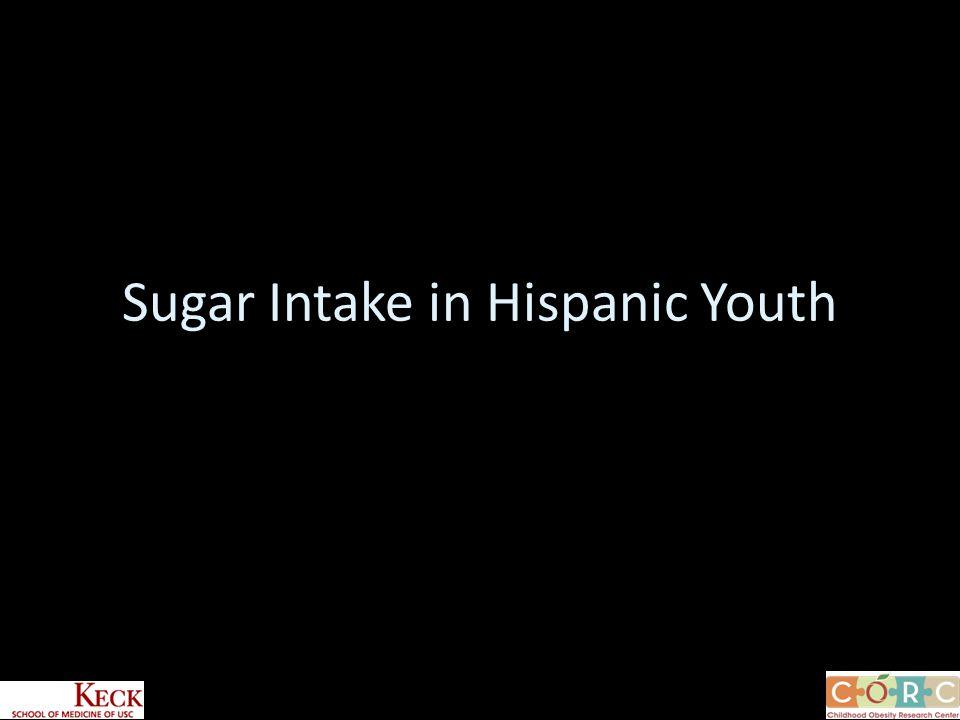 Sugar Intake in Hispanic Youth