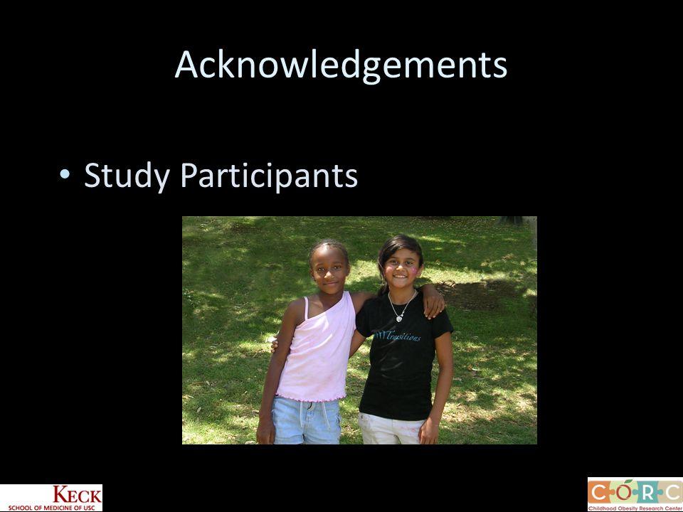 Study Participants Acknowledgements