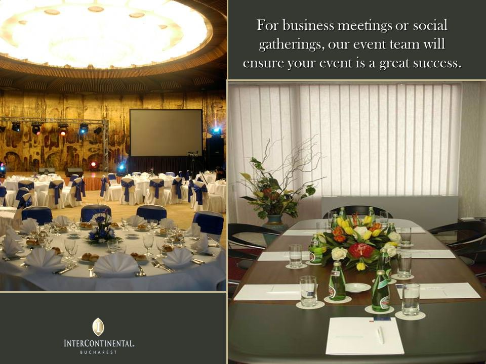 For business meetings or social gatherings, our event team will ensure your event is a great success.
