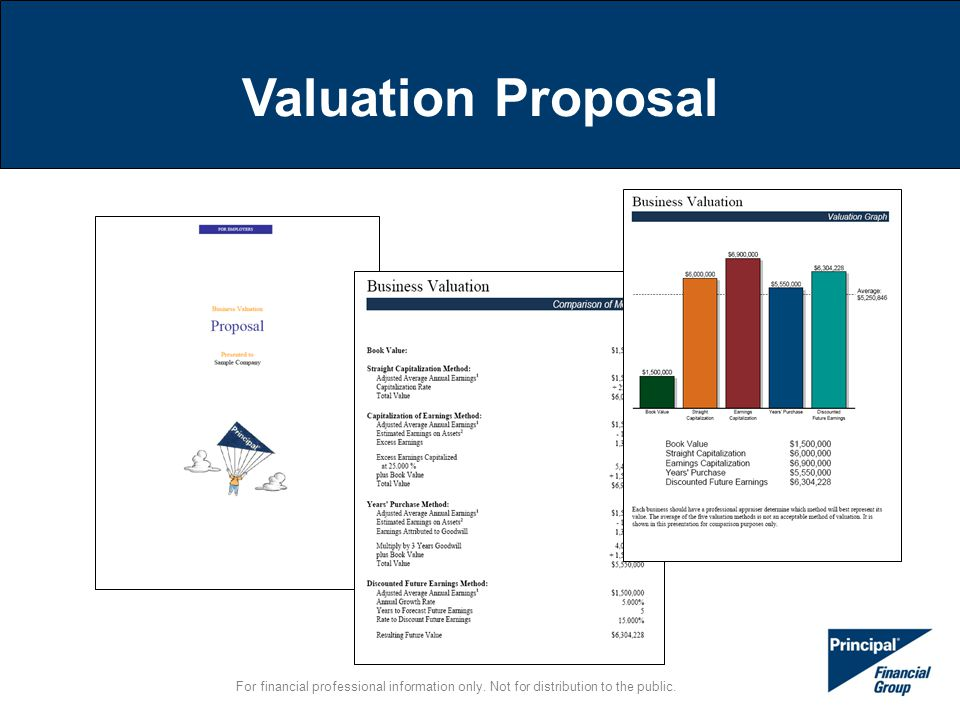 For financial professional information only. Not for distribution to the public. Valuation Proposal