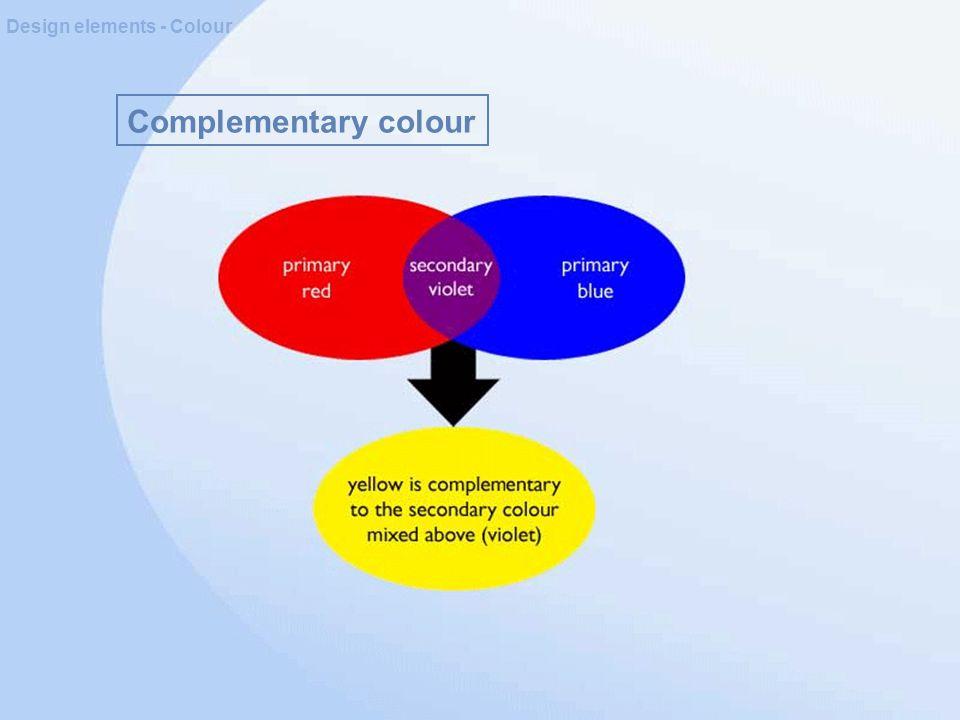 Complementary colour Design elements - Colour