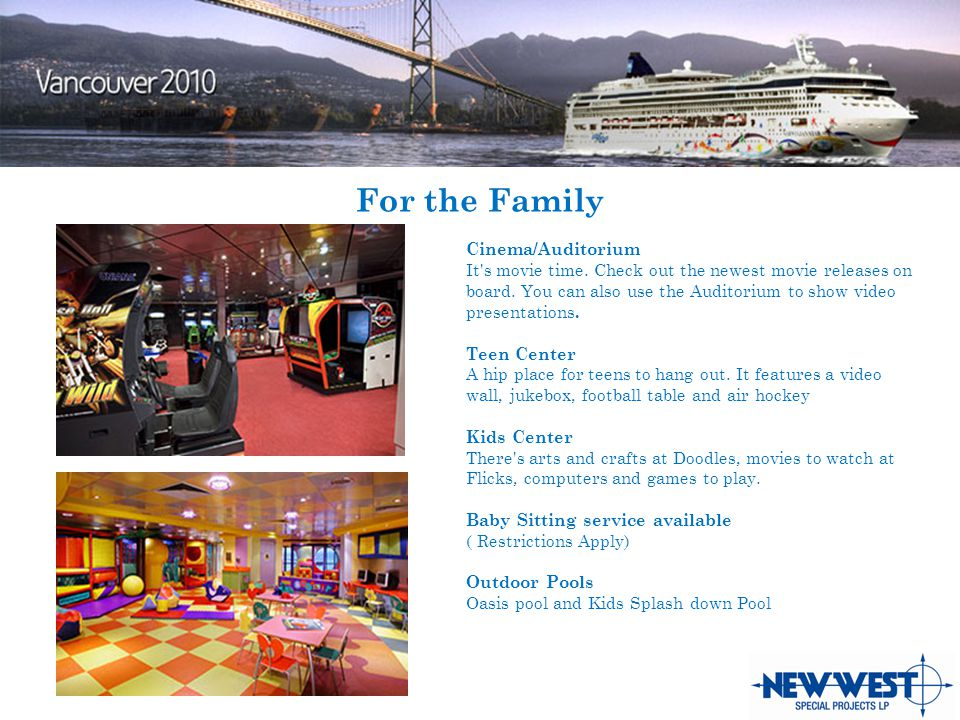 For the Family Cinema/Auditorium It s movie time. Check out the newest movie releases on board.