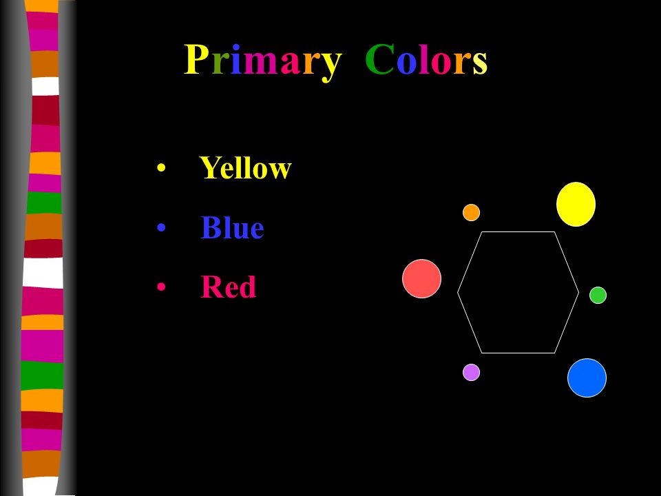 Yellow Blue Red Primary Colors