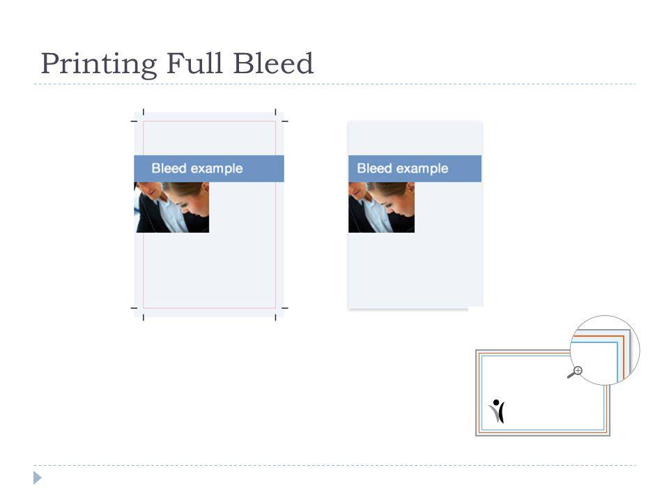 Printing Full Bleed