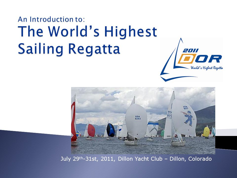 Xylem CCI is proud to be associated with the Dillon Open Regatta as a Corporate Sponsor because of the role that the event plays in supporting productive youth activities.