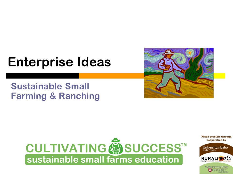 Enterprise Ideas Sustainable Small Farming & Ranching