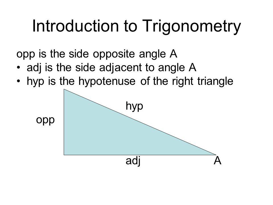 Define the three basic trigonometric ratios: sine, cosine and tangent.