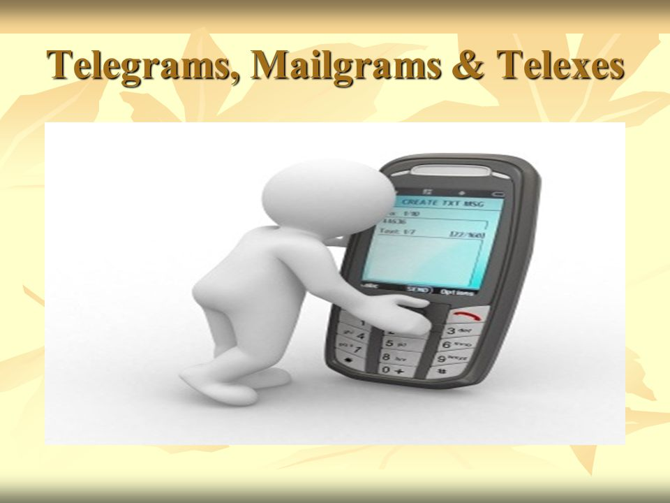 Telegrams, Mailgrams & Telexes