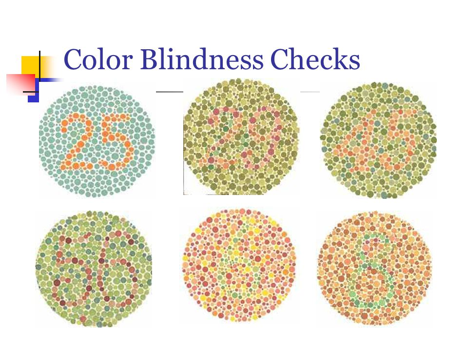 Color Blindness Checks