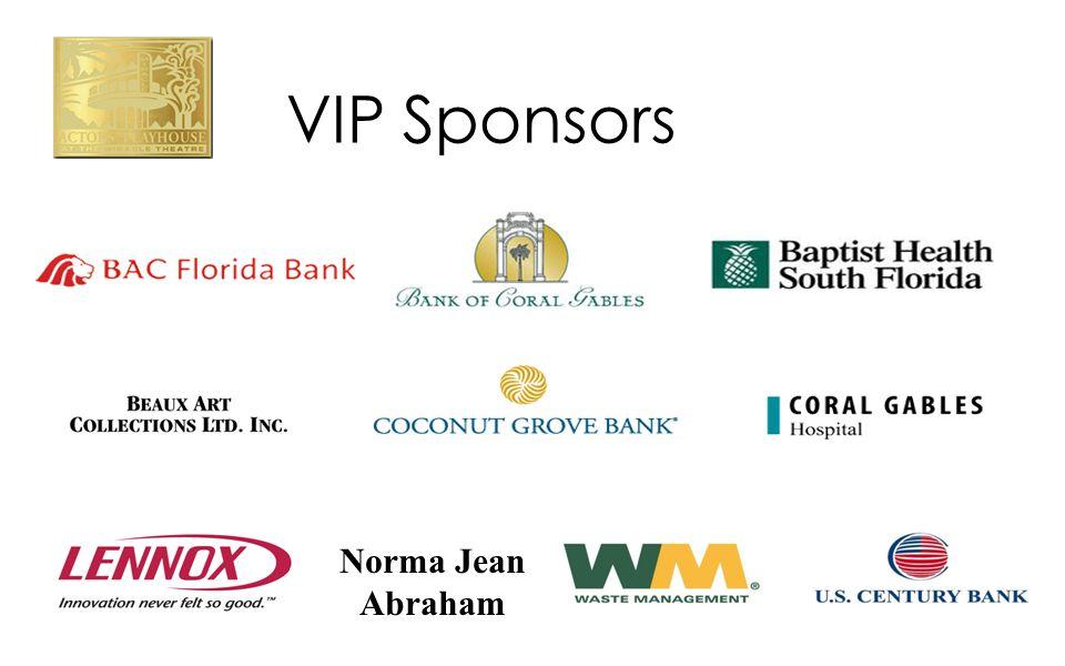 VIP Sponsors Norma Jean Abraham