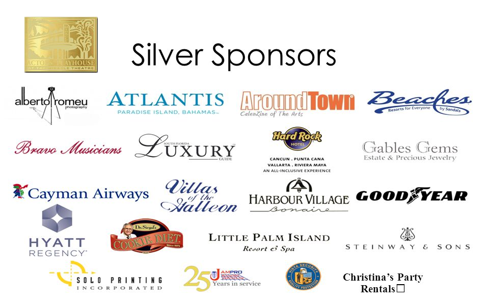 Silver Sponsors Christina's Party Rentals