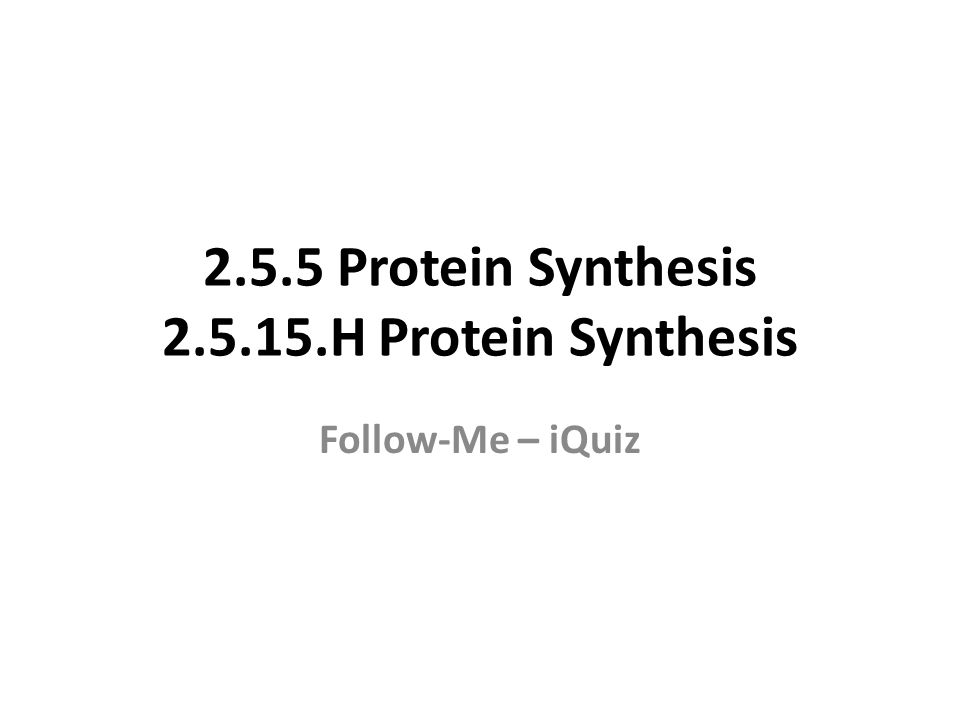 2.5.5 Protein Synthesis 2.5.15.H Protein Synthesis Follow-Me – iQuiz
