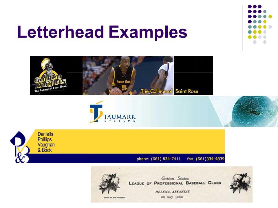 Letterhead Examples