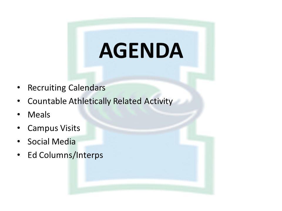 DATEPERIOD Sept. 1-8Quiet 9-30Recruiting Oct. 1-31Recruiting