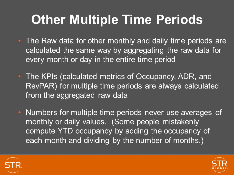 Other Multiple Time Periods The Raw data for other monthly and daily time periods are calculated the same way by aggregating the raw data for every mo