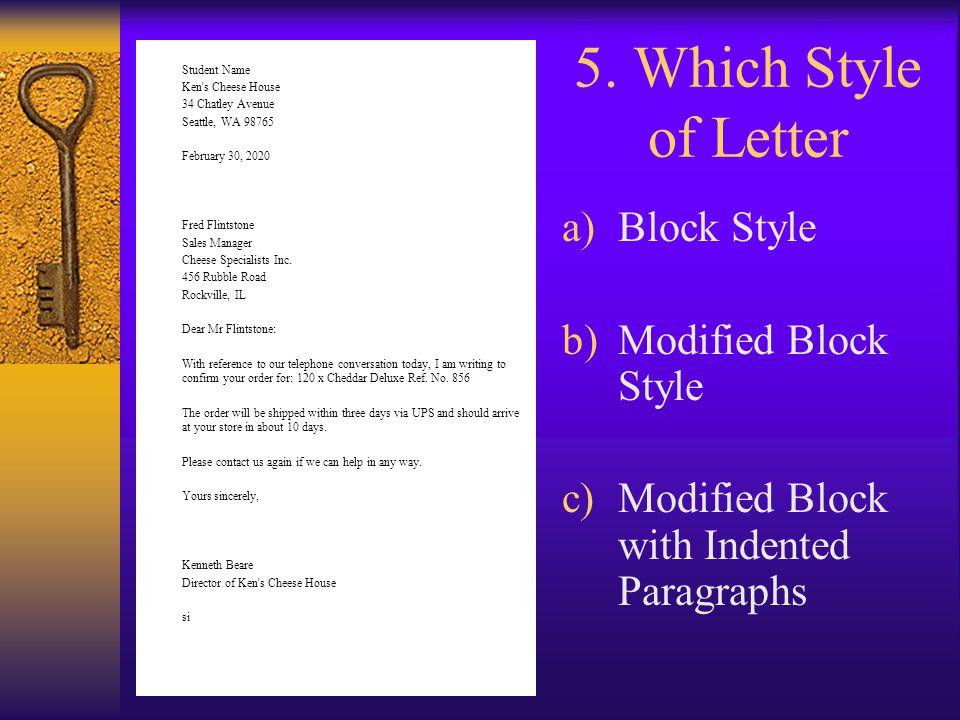 block style cover letter format verbs homework ks1