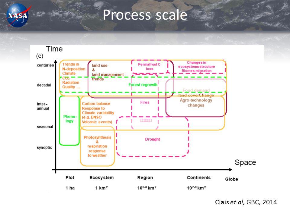 Process scale Ciais et al, GBC, 2014