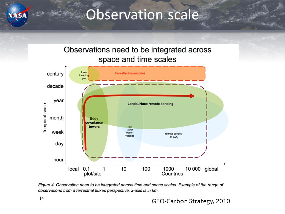 Observation scale GEO-Carbon Strategy, 2010