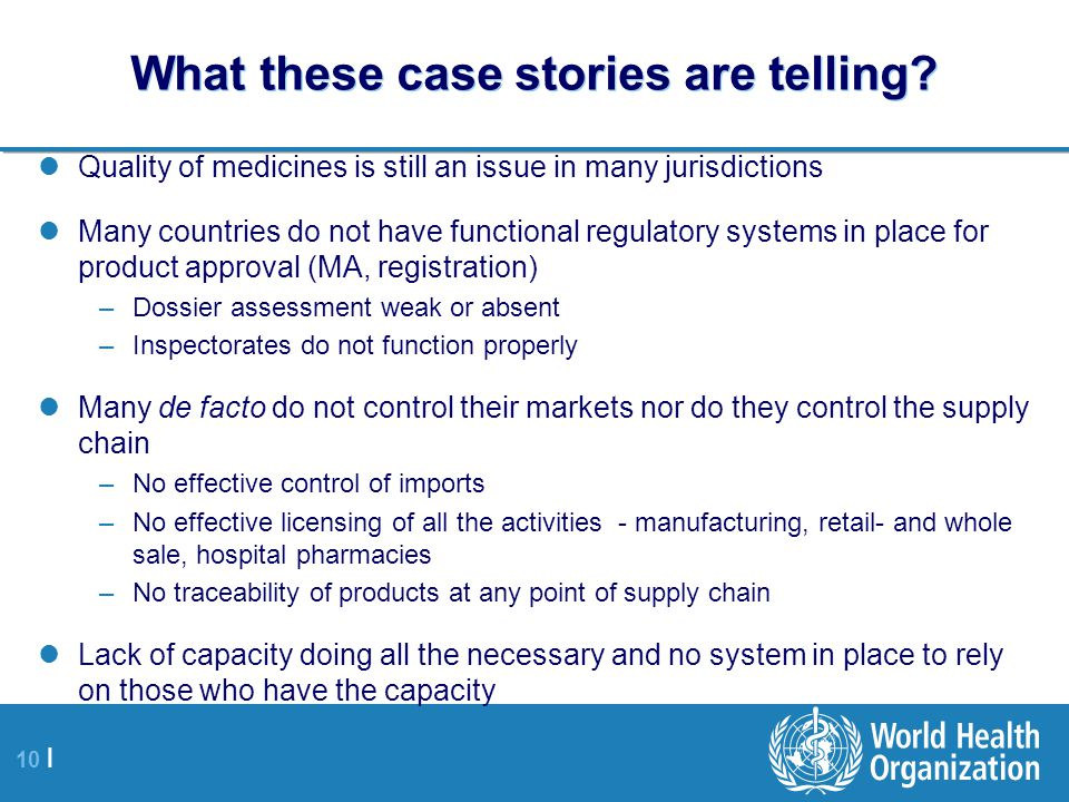 10 | What these case stories are telling.