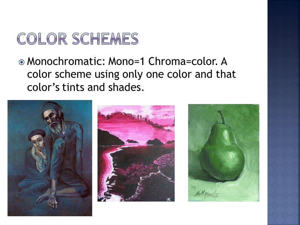  Monochromatic: Mono=1 Chroma=color.