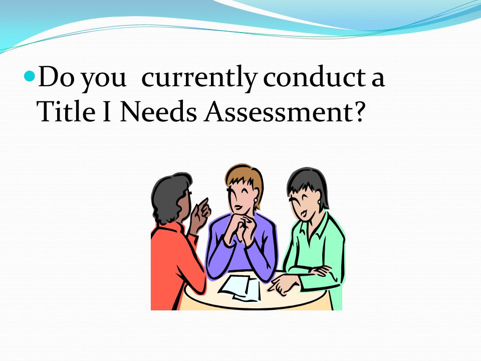 Do you currently conduct a Title I Needs Assessment?