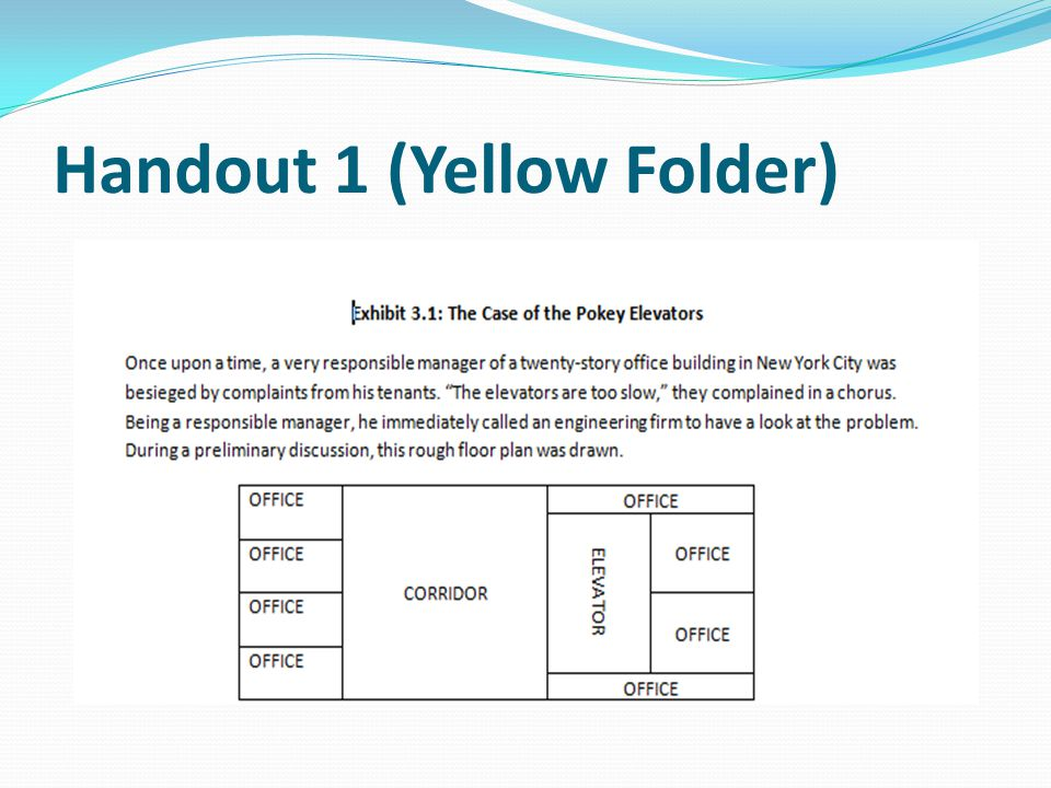 Handout 1 (Yellow Folder)