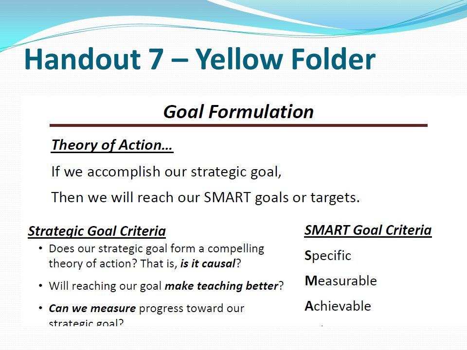 Handout 7 – Yellow Folder